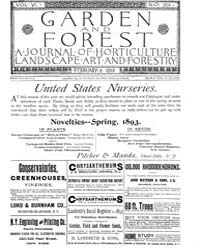 Garden and Forest Volume 6 Issue 259 Feb... by Charles S. Sargent