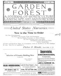 Garden and Forest Volume 6 Issue 261 Feb... by Charles S. Sargent