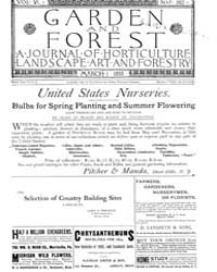 Garden and Forest Volume 6 Issue 262 Mar... by Charles S. Sargent