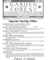 Garden and Forest Volume 6 Issue 268 Apr... by Charles S. Sargent