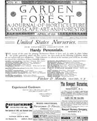 Garden and Forest Volume 6 Issue 270 Apr... by Charles S. Sargent