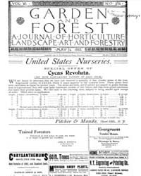 Garden and Forest Volume 6 Issue 274 May... by Charles S. Sargent