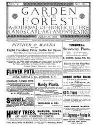 Garden and Forest Volume 6 Issue 283 Jul... by Charles S. Sargent