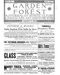 Garden and Forest Volume 6 Issue 284 Aug... by Charles S. Sargent