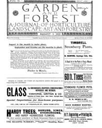 Garden and Forest Volume 6 Issue 285 Aug... by Charles S. Sargent