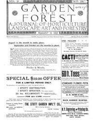Garden and Forest Volume 6 Issue 286 Aug... by Charles S. Sargent