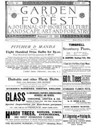 Garden and Forest Volume 6 Issue 287 Aug... by Charles S. Sargent