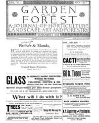 Garden and Forest Volume 6 Issue 289 Sep... by Charles S. Sargent