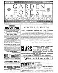 Garden and Forest Volume 6 Issue 290 Sep... by Charles S. Sargent