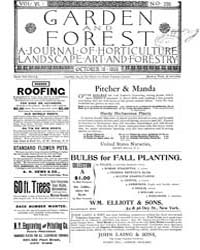 Garden and Forest Volume 6 Issue 295 Oct... by Charles S. Sargent