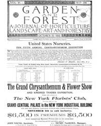 Garden and Forest Volume 6 Issue 296 Oct... by Charles S. Sargent
