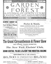 Garden and Forest Volume 6 Issue 297 Nov... by Charles S. Sargent