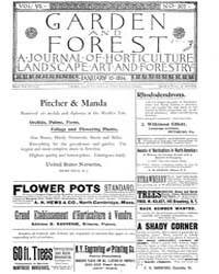 Garden and Forest Volume 7 Issue 307 Jan... by Charles S. Sargent