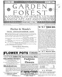 Garden and Forest Volume 7 Issue 308 Jan... by Charles S. Sargent
