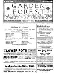 Garden and Forest Volume 7 Issue 309 Jan... by Charles S. Sargent