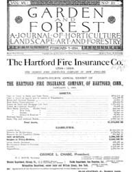Garden and Forest Volume 7 Issue 311 Feb... by Charles S. Sargent