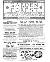 Garden and Forest Volume 7 Issue 313 Feb... by Charles S. Sargent