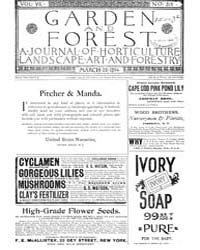 Garden and Forest Volume 7 Issue 318 Mar... by Charles S. Sargent