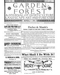 Garden and Forest Volume 7 Issue 319 Apr... by Charles S. Sargent