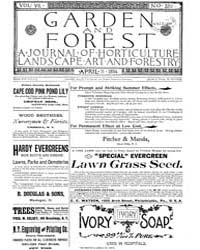 Garden and Forest Volume 7 Issue 320 Apr... by Charles S. Sargent