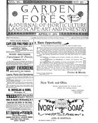 Garden and Forest Volume 7 Issue 321 Apr... by Charles S. Sargent
