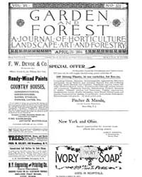Garden and Forest Volume 7 Issue 322 Apr... by Charles S. Sargent