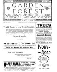 Garden and Forest Volume 7 Issue 323 May... by Charles S. Sargent