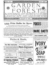 Garden and Forest Volume 7 Issue 334 Jul... by Charles S. Sargent