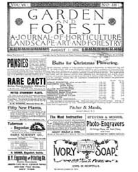 Garden and Forest Volume 7 Issue 336 Aug... by Charles S. Sargent