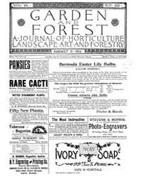 Garden and Forest Volume 7 Issue 338 Aug... by Charles S. Sargent