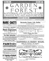 Garden and Forest Volume 7 Issue 339 Aug... by Charles S. Sargent
