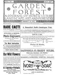Garden and Forest Volume 7 Issue 340 Aug... by Charles S. Sargent