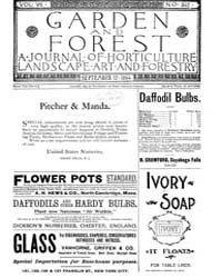 Garden and Forest Volume 7 Issue 342 Sep... by Charles S. Sargent