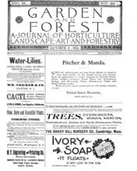 Garden and Forest Volume 7 Issue 345 Oct... by Charles S. Sargent