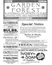 Garden and Forest Volume 7 Issue 347 Oct... by Charles S. Sargent