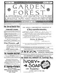 Garden and Forest Volume 7 Issue 349 Oct... by Charles S. Sargent