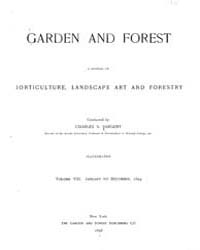Garden and Forest Volume 8 Index by Charles S. Sargent