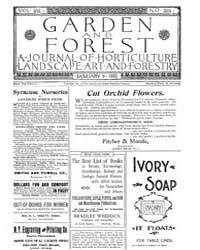 Garden and Forest Volume 8 Issue 359 Jan... by Charles S. Sargent