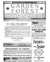 Garden and Forest Volume 8 Issue 360 Jan... by Charles S. Sargent