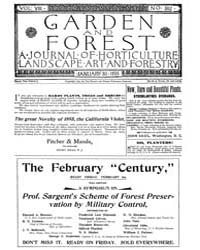 Garden and Forest Volume 8 Issue 362 Jan... by Charles S. Sargent
