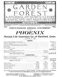 Garden and Forest Volume 8 Issue 365 Feb... by Charles S. Sargent
