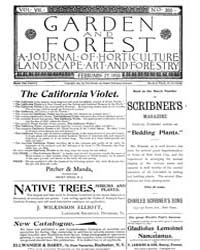 Garden and Forest Volume 8 Issue 366 Feb... by Charles S. Sargent