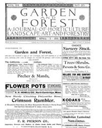 Garden and Forest Volume 8 Issue 371 Apr... by Charles S. Sargent