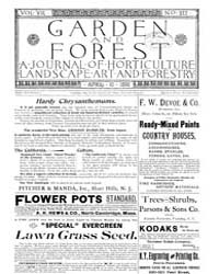 Garden and Forest Volume 8 Issue 372 Apr... by Charles S. Sargent