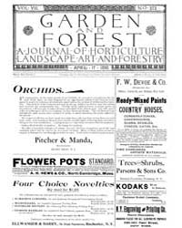 Garden and Forest Volume 8 Issue 373 Apr... by Charles S. Sargent