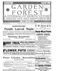 Garden and Forest Volume 8 Issue 374 Apr... by Charles S. Sargent