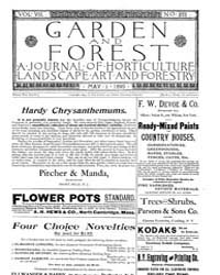 Garden and Forest Volume 8 Issue 375 May... by Charles S. Sargent