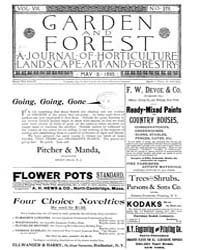 Garden and Forest Volume 8 Issue 376 May... by Charles S. Sargent