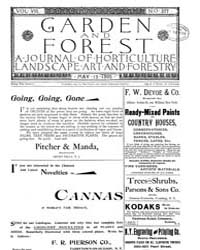 Garden and Forest Volume 8 Issue 377 May... by Charles S. Sargent