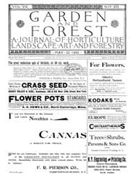 Garden and Forest Volume 8 Issue 378 May... by Charles S. Sargent